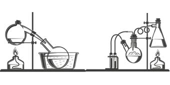 laboraufbau chemische Reaktion Chiroblock